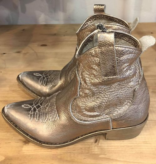 Bottines Cuir Mimmu TRONCHETTO LAMINATO GOLD