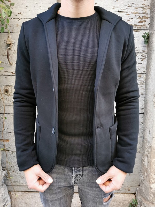 Blazer Sweat Hood ALEX Black JACK&JONES (3)