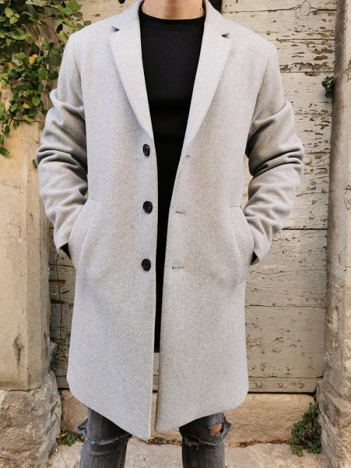 Manteau MOULDER Light Grey JACK&JONES (3)