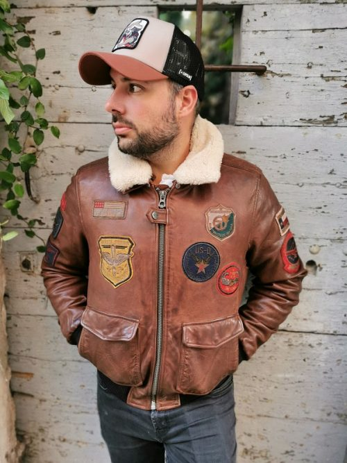 BLOUSON-MYTHIC-MARRON-DAYTONA