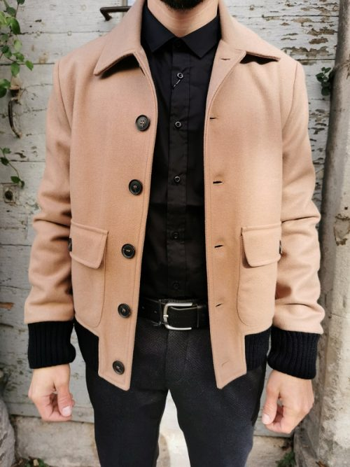 MANTEAU COURT CAMEL IMPERIAL