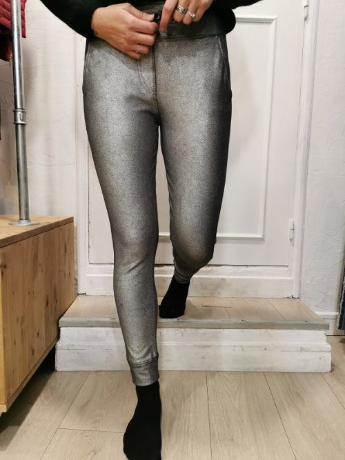 PANTALON ARGENT SONG FRENCH TERRY