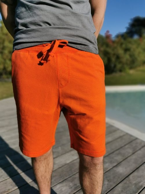Short 4864MAT FRENCH TERRY homme orange